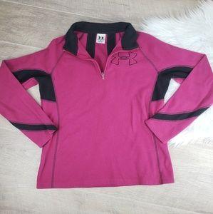Under Armour Fleece 3/4 zip Pullover Jacket Sz M